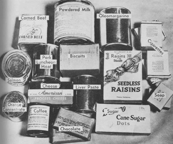 WW2 American Prisoner of War Relief Packages