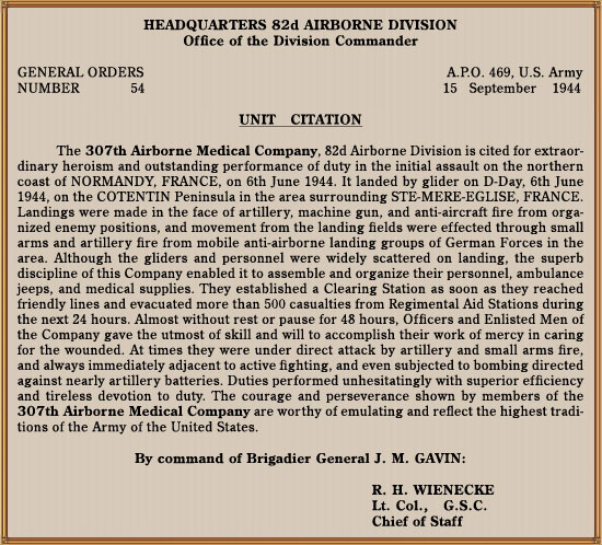 307th Airborne Medical Company   WW2 US Medical Research Centre