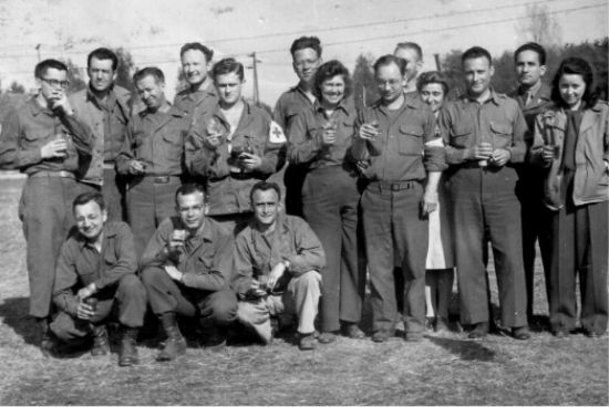 Photograph Of 91st Evacuation Hospital Personnel Taken On V E Day During The Units Time At Wiepke By Sgt Habich