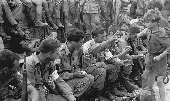 Sicily July 1943. Medical Detachments pertaining to the 504th and 505th Regimental Combat Teams take some rest after the fighting.