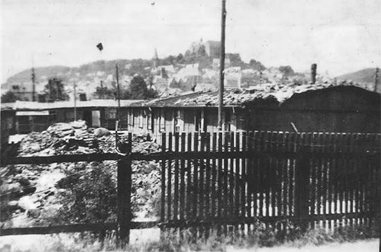 Partial view of Displaced Persons camp at Marburg, Germany. Picture taken in April-March 1945.