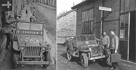 Typical illustrations of a Chaplain's 1/4-ton Truck as used in the field.