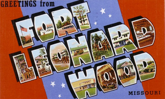 Greetings card from Fort Leonard Wood, Missouri, birth place of the 635th Medical Collecting Company on 15 September 1943.