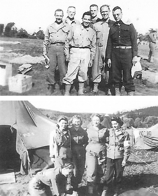 Group of Medical Corps and Army Nurse Corps Officers of the 35th Evacuation Hospital. Courtesy Larry Langston.