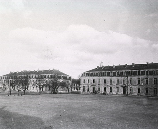 Buildings complex which housed the 50th General Hospital's main wards during its stay at Commercy, France.