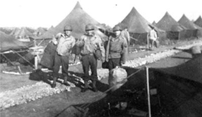 1944 Summer bivouac, France.