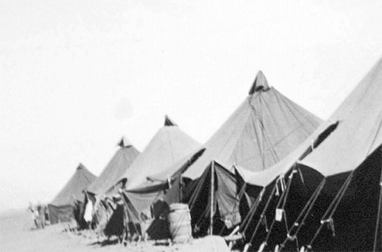 Arles Staging Area # 3, Southern France, where the 79th Field Hospital was awaiting redeployment to the South Pacific Area. Period July-August 1945.