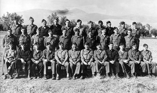 Group photograph showing Officers of the 11th Evacuation Hospital. Picture taken during the unit's training phase in the Zone of Interior.