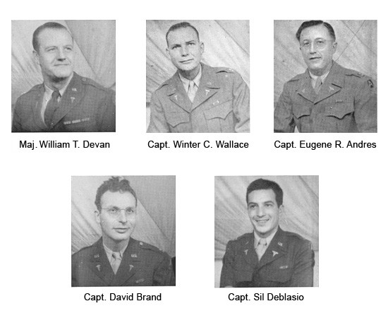 Portraits of Officers, Second Platoon, 42d Field Hospital.