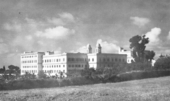 General view of the buildings in Rome housing the 33d General Hospital. Photo taken in summer of 1944.