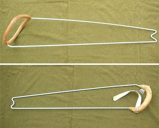 Top: Item 37490 Splint, Thomas, Leg, Full Ring  Bottom: Item 3750000 - Splint, Army, Leg, Half-Ring