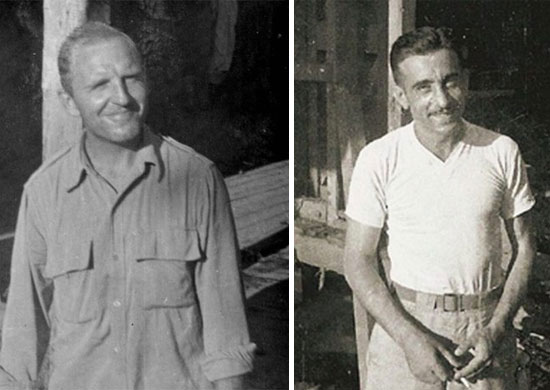 Pictures of Captains Michael J. Dardas and Frank S. Mainella, taken in the field while serving in Burma.