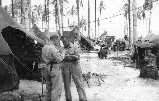 "Partial view of Clearing Station established by the 603d Medical Clearing Company in the area of ""Red Beach"", Los Negros Island, Philippines, between 10 March and 18 May 1944."