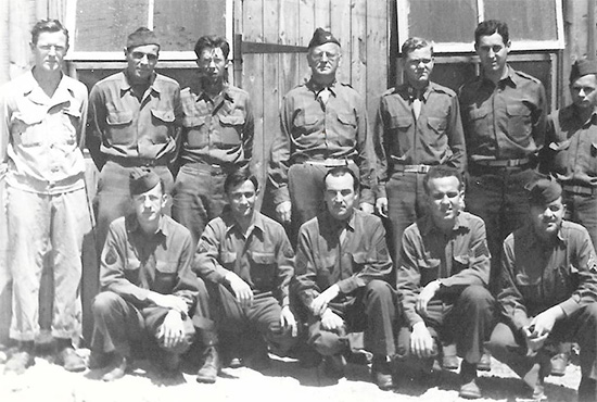 Group photo of the Commanding Officer, 33d General Hospital, and some of his Staff. Photo taken during the organization's stay in Bizerte, Tunisia, September 1943 - May 1944.