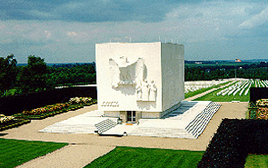 View of the Ardennes American Cemetery and Memorial.