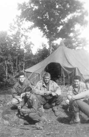 Personnel of the 48th Field Hospital bivouacking in France.