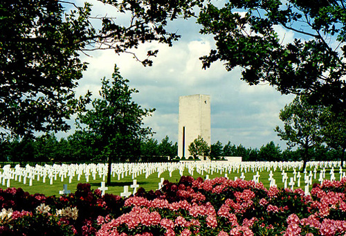 The Netherlands American Cemetery.
