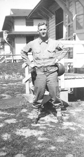 Photograph of Sergeant Ralph L. Quesinberry, ASN 15359295, while serving with the 48th Field Hospital.