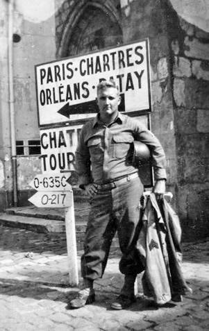Photo of Sergeant R. L. Quesinberry, member of the 48th Field Hospital's Surgical Department, while in France.