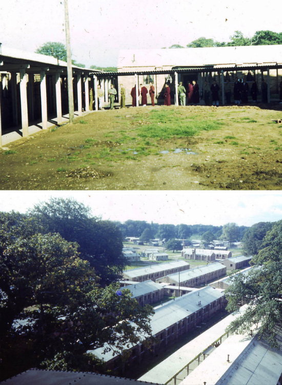 Partial views illustrating the 82d General Hospital's medical installations at Iscoyd Park, Flintshire.
