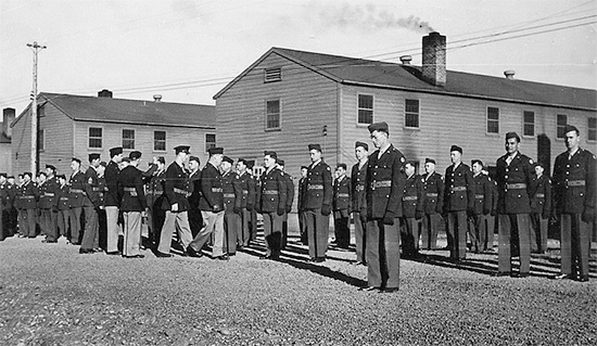 82d General Hospital, general formation and inspection by the Officers of the organization. Camp White, Medford, Oregon.