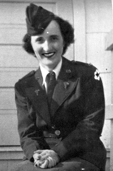 Portrait of 2d Lt. Claire C. Riley</strong. Photograph taken during the unit's time in North Africa; 30 June 1943.