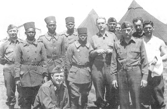95th Evacuation Hospital Officers with French Colonial Troops, while stationed in French Morocco.
