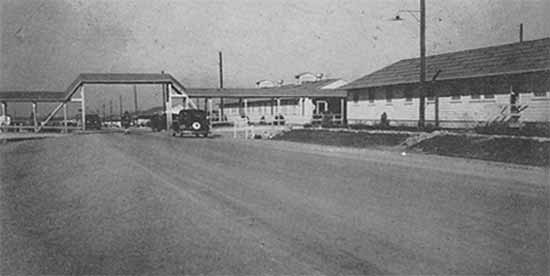 General view of the Station Hospital facility at Camp Barkeley, Texas where many of the staff of the 30th trained during its early phase.