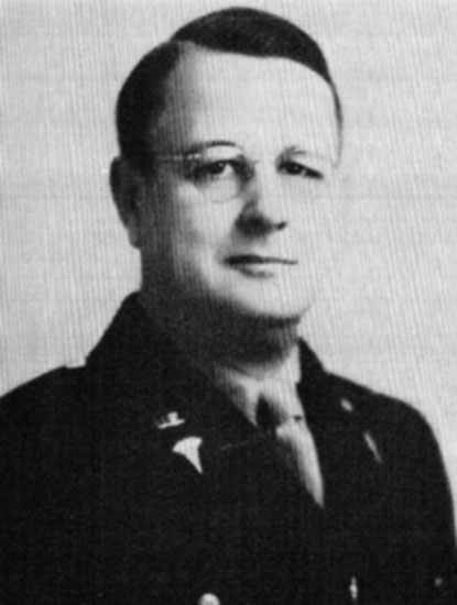 Portrait photograph of Lieutenant Colonel Floyd V. Kilgore, the 26th General Hospital's first Commanding Officer.
