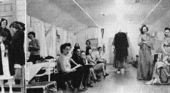 Photograph taken in the Nurses' quarters at Ft. Sill.