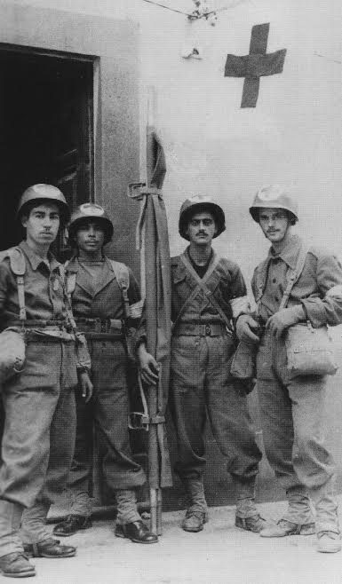 Stretcher bearer team of the 6th Regimental Combat Team, Brazilian Expeditionary Force in Italy. Courtesy Cesar C. Maximiano