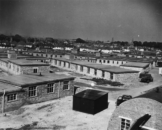 General view of Musgrove Park medical installations, Taunton, Somerset. This became the organization's one and only station in the United Kingdom (October-November 1942).