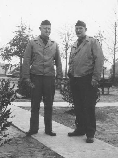 Lt. Colonel Lee D. Cady and Captain Oscar P. Hampton, Chief Orthopedic Service, Fort Benning, Georgia, 1942.