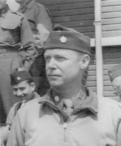 Picture illustrating Major Jean M. Stevenson, Chief Surgical Service, during the hospital's stay at Tongres, Belgium, March-August 1945.