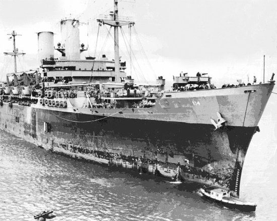 "Picture illustrating USS ""General William Mitchell"", AP-114, which carried the 27th Evacuation Hospital's ANC contingent to North Africa. The ship's destination was Oran, Algeria."