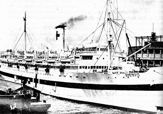 "Picture illustrating USAHS ""Seminole"", which transported the entire 27th Evacuation Hospital from Algeria to Naples, Italy."