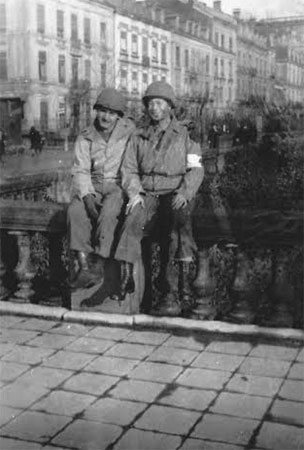 John Wood and Sam Ruben pictured during the unit's time in Luxembourg City, Luxembourg.Courtesy Christine Smith