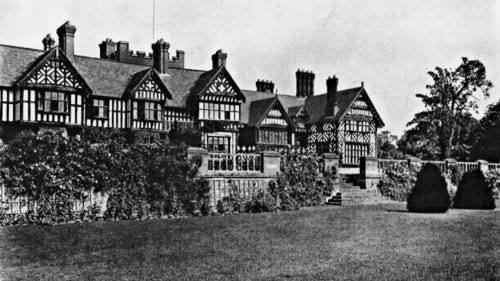 Photograph showing the main manor house on the Whightick Estate; the 623d's first home in the United Kingdom.
