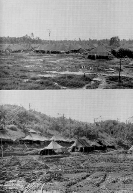 Views of different hospital sites on Leyte, Philippine Islands, 8 December 1944.