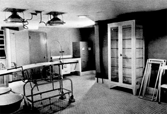 Dressing station on board the USAHS Louis A. Milne.