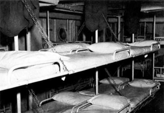 Surgical ward on board the USAHS Louis A. Milne.
