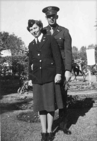 Frances and Earl pictured during leave in the United States.