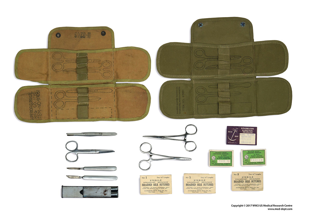 Kits of Medical Personnel   WW2 US Medical Research Centre