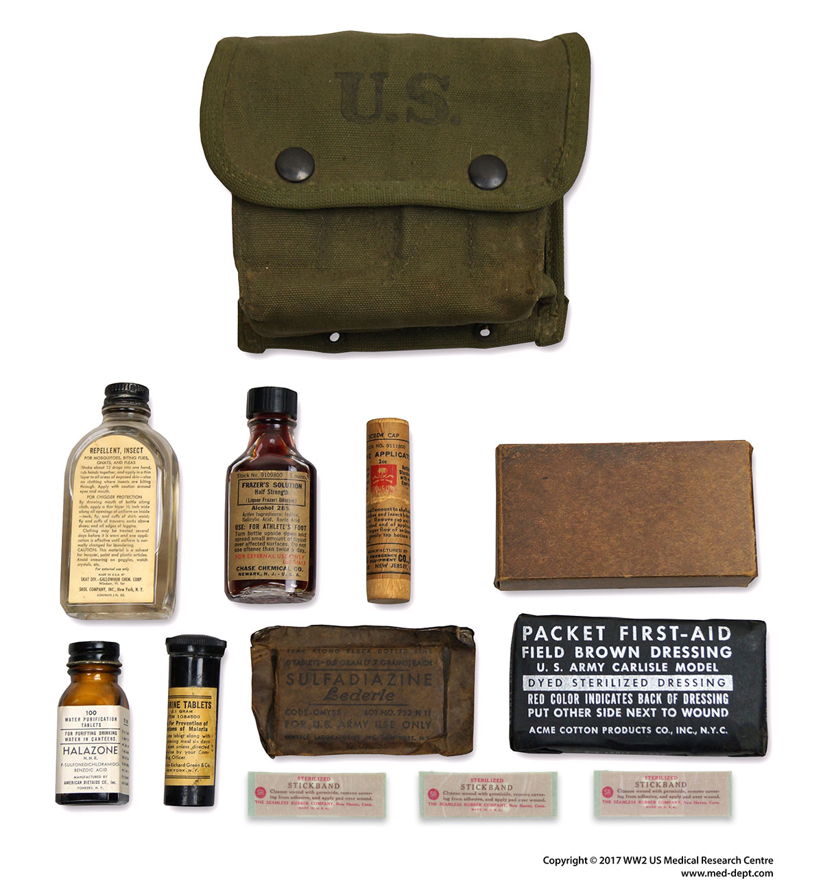 Individual First-Aid Kits | WW2 US Medical Research Centre